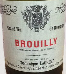 Dominique Laurent Brouilly 2014 pour Lindaboie