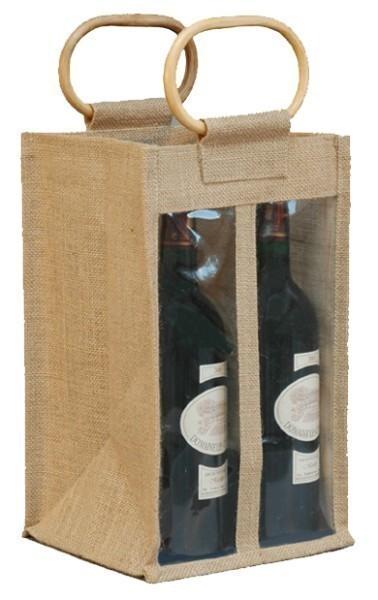 4 bouteilles Sac en toile de jute pour Lindaboie