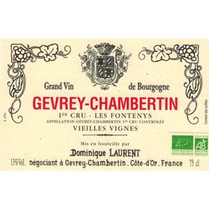 Etiquette Dominique Laurent Gevrey-Chambertin Fontenys VV pour Lindaboie
