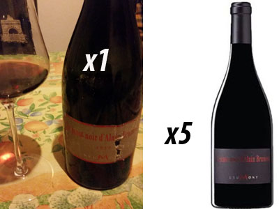Pinot Noir Brumont 2010 et 2015 pour Lindaboie
